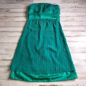 Emerald Green Moulinette Soeurs Evening Silk Dress